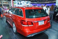Carro de propriedade de Mercedes-Benz E 300 na exposição foto de stock royalty free