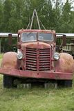 Carro de remolque viejo Imagen de archivo libre de regalías