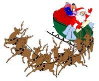 Carro de Santa ilustração stock