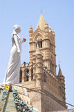 Carro de Santa Rosalia na catedral de Palermo Imagem de Stock Royalty Free