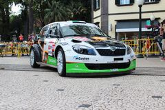 Carro de Skoda Fabia Rally foto de stock royalty free