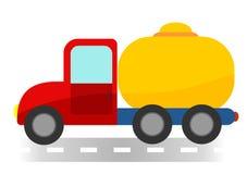 Carro de tanque dos desenhos animados no fundo branco mim Foto de Stock