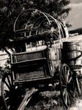 Carro de tirada negro y blanco Imagen de archivo