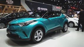 Carro de Toyota C-HR na exposição na 35a expo internacional do motor de Tailândia video estoque