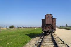 Carro de transporte en Auschwitz Fotos de archivo libres de regalías