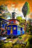 Carro de trem Fotografia de Stock Royalty Free