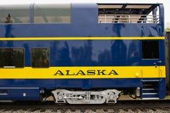 Carro de trem de Alaska imagens de stock