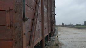 Carro de trem para a deporta16cao em Auschwitz vídeos de arquivo