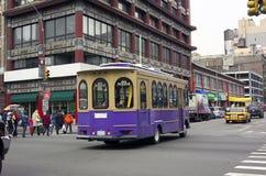 Carro de trole Chinatown NYC Foto de Stock Royalty Free