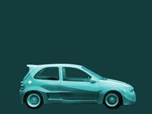 Carro de turquesa fotografia de stock