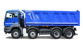 Carro de vaciado azul foto de archivo libre de regalías