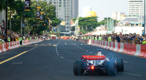 Carro de Vodafone McLaren Mercedes F1; Mika Hakkinen Imagens de Stock Royalty Free