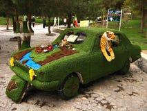 Carro decorado durante Nowruz em Isfahan, Irã Fotografia de Stock Royalty Free