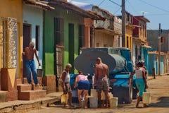 Carro del agua en Trinidad, Cuba Imagen de archivo libre de regalías