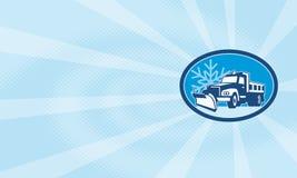 Carro del arado de nieve retro stock de ilustración