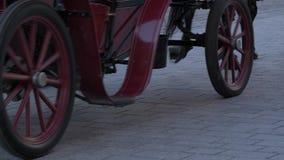 Carro del caballo de la gente de las piernas que camina almacen de metraje de vídeo