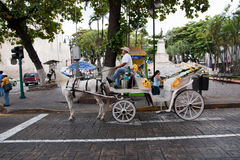 Carro del caballo en Mérida imagen de archivo libre de regalías