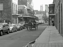 Carro del caballo en New Orleans Foto de archivo libre de regalías