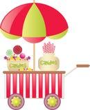Carro del caramelo Imágenes de archivo libres de regalías