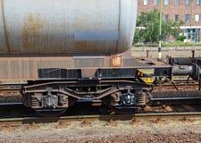 Carro del ferrocarril del tanque de aceite Imagen de archivo