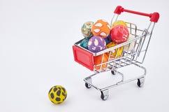 Carro del mercado Imágenes de archivo libres de regalías