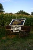 Carro del mercado de la granja Imagen de archivo libre de regalías