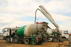 Carro del mezclador concreto Fotografía de archivo libre de regalías