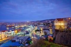 Carro del pasajero de funicular en Valparaiso, Chile Imagen de archivo libre de regalías