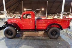 Carro del poder de Dodge en el museo del auto de los emiratos Imagen de archivo