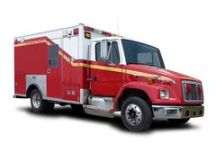 Carro del rescate del fuego de la ambulancia imagenes de archivo