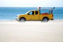 Carro del salvavidas pulido con chorro de arena Foto de archivo libre de regalías