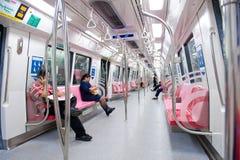 Carro del subterráneo de Singapur Imagenes de archivo