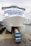 Carro del transporte de la nave Fotografía de archivo