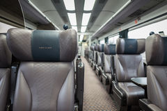 Carro del tren de la primera clase Imagen de archivo