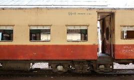 Carro del tren de Myanmar Imagen de archivo