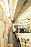 Carro del tren del túnel del Canal de la Mancha Fotografía de archivo