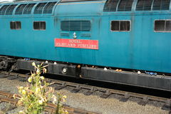 Carro del tren del vintage de la vista lateral Imagenes de archivo