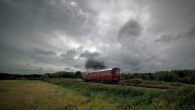 Carro del vapor en el campo de Norfolk Imagenes de archivo