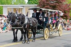 Carro desenhado cavalo Imagens de Stock Royalty Free