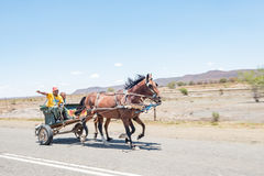 Carro desenhado cavalo Foto de Stock Royalty Free