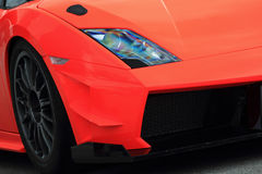 Carro desportivo alaranjado Fotografia de Stock Royalty Free