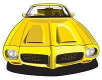 Carro desportivo amarelo ilustração do vetor