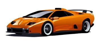 Carro desportivo amarelo Fotografia de Stock
