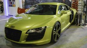 Carro desportivo amarelo Fotos de Stock Royalty Free