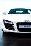 Carro desportivo branco Audi R8 Foto de Stock