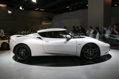 Carro desportivo branco dos lótus Fotos de Stock Royalty Free