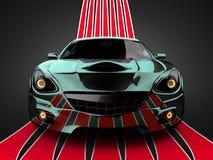Carro desportivo brandless luxuoso ilustração stock