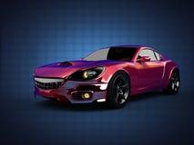 Carro desportivo brandless luxuoso 3D rendido ilustração do vetor