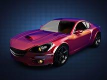 Carro desportivo brandless luxuoso 3D rendido ilustração stock