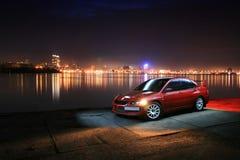 Carro desportivo da noite Imagens de Stock Royalty Free